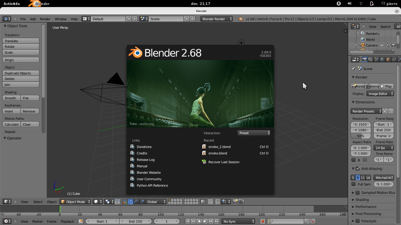 Splashscreen blender 2.68 !